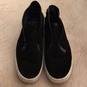 Vince Black Suede Sneaker Bootie